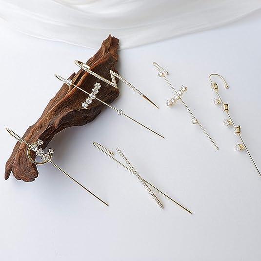 S.CHARMA Wrap Crawler Hook Ladies Stylish Earrings WAS £13.99 NOW £4.19 w/code RL6YV9G4 @ Amazon