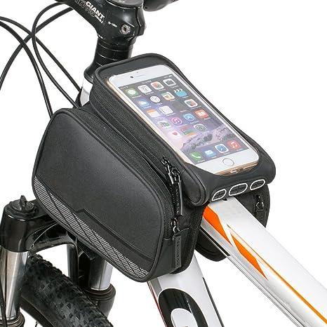 flypro impermeable para bicicleta Ciclismo tubo marco doble bolsa ...