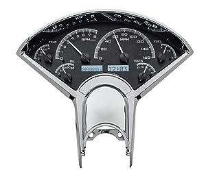 Dakota Digital 55 56 Chevy Car Analog Dash Gauges Black Alloy White VHX-55C-K-W