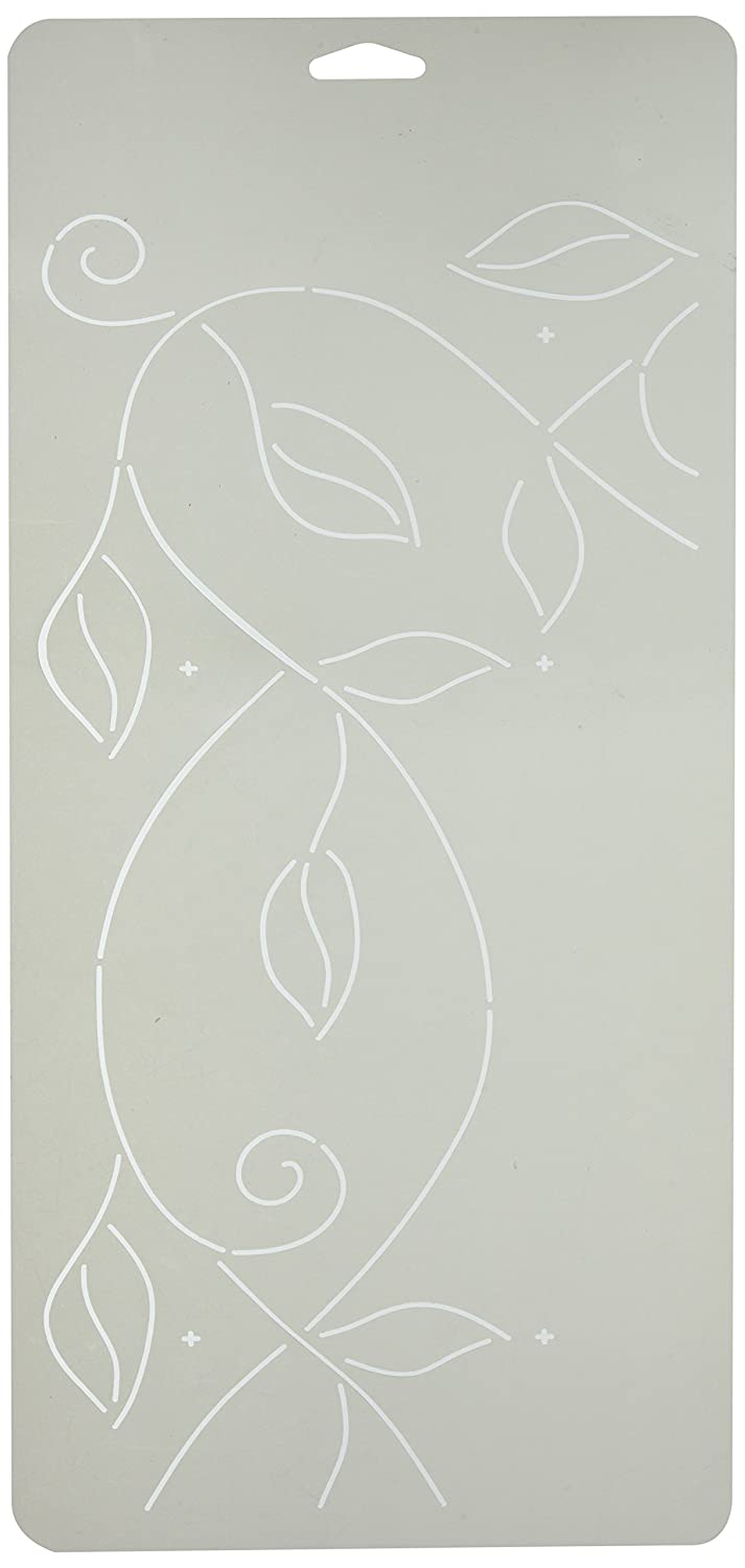 Sten Source PC-1011 Quilt Stencils by Pepper Cory, 5-Inch Leafy Branch Braid, 8-Inch x 18-Inch Notions - In Network