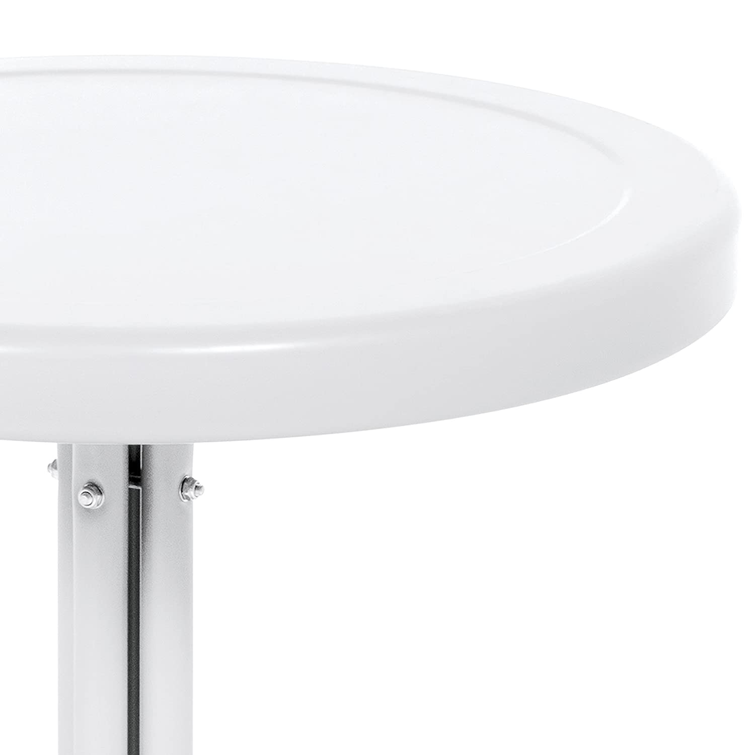 Best Choice Products 22in Modern Round Metal Side Table w UV and Weather Resistant Finish – White