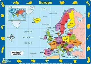 Little Wigwam Tovaglietta americana - Mappa dell'Europa [Edizione: Inglese] COMINHKPR36834