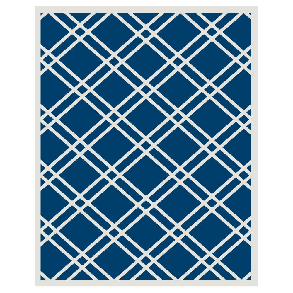 Budge Maverick Outdoor Patio Rug, RUG057RB4 (5' Long x 7' Wide, Royal Blue)