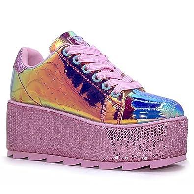 the best attitude 77dc7 b069c YRU Lala Mermaid, Platform Sneaker, Pink, Atlantis, 7