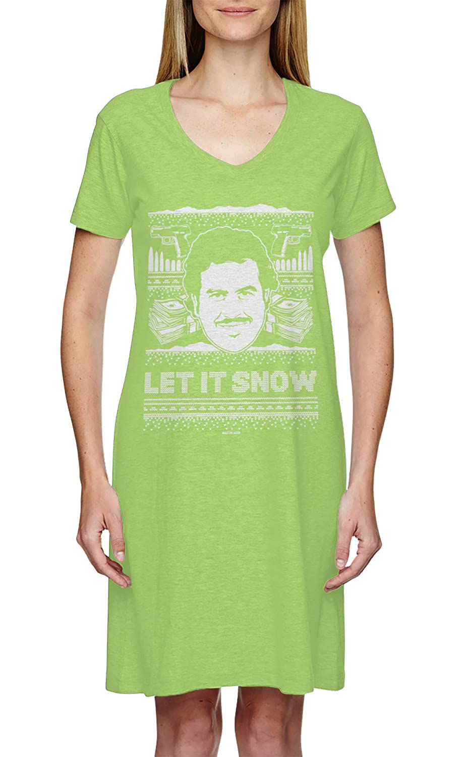 HAASE UNLIMITED Let It Snow Famous Drug Lord Ugly Christmas Ladies Dress