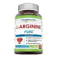 Pure Naturals L-Arginine - 1000 mg, 120 Tablets