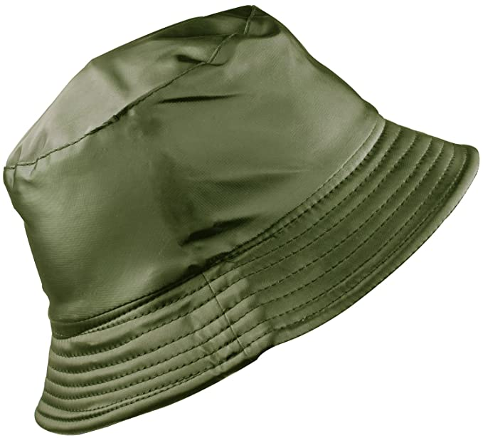 YJDS Women s Rain Hat Waterproof Wide Brim Packable Army Green at ... 16dab7362d2