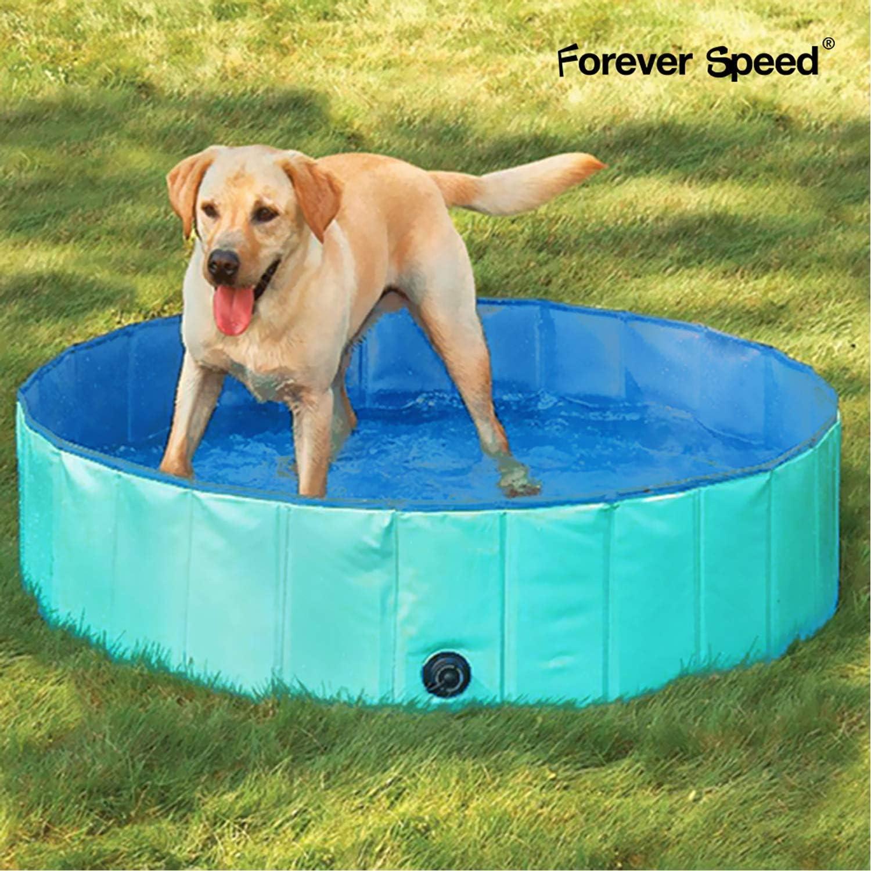 Forever Speed Piscina perros Gatos para perros grandes Portátil Bañera Baño de Mascota Plegable Piscina de Baño Doggy Pool 80 x 20 cm Verde