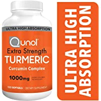Turmeric Curcumin Softgels, Qunol with Ultra High Absorption 1000mg, Joint Support, Dietary Supplement, Extra Strength