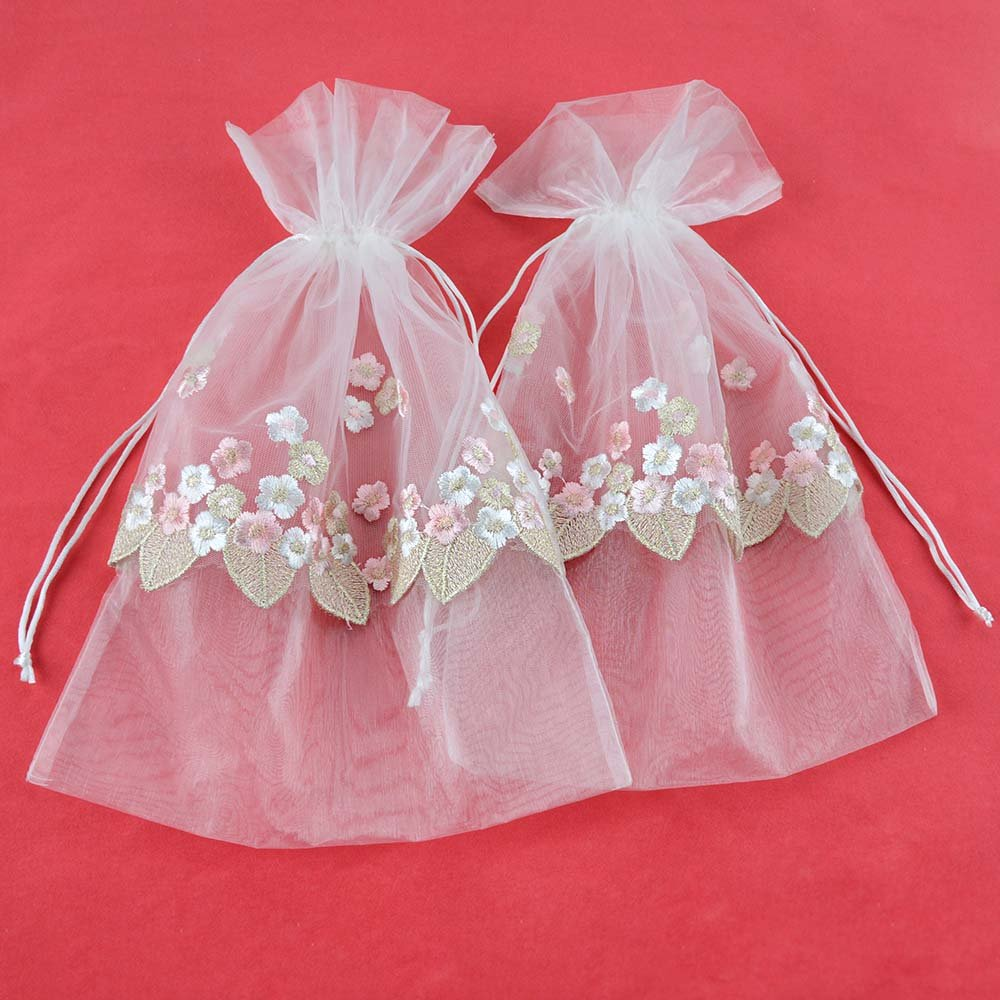 Amazon.com: VU100 Drawstrings Organza Bags/Pouches Lace Flower Decor ...
