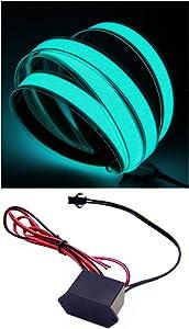 El Tape 1 Meter El Strip with 12-Volt DC Inverter - Blue/Green