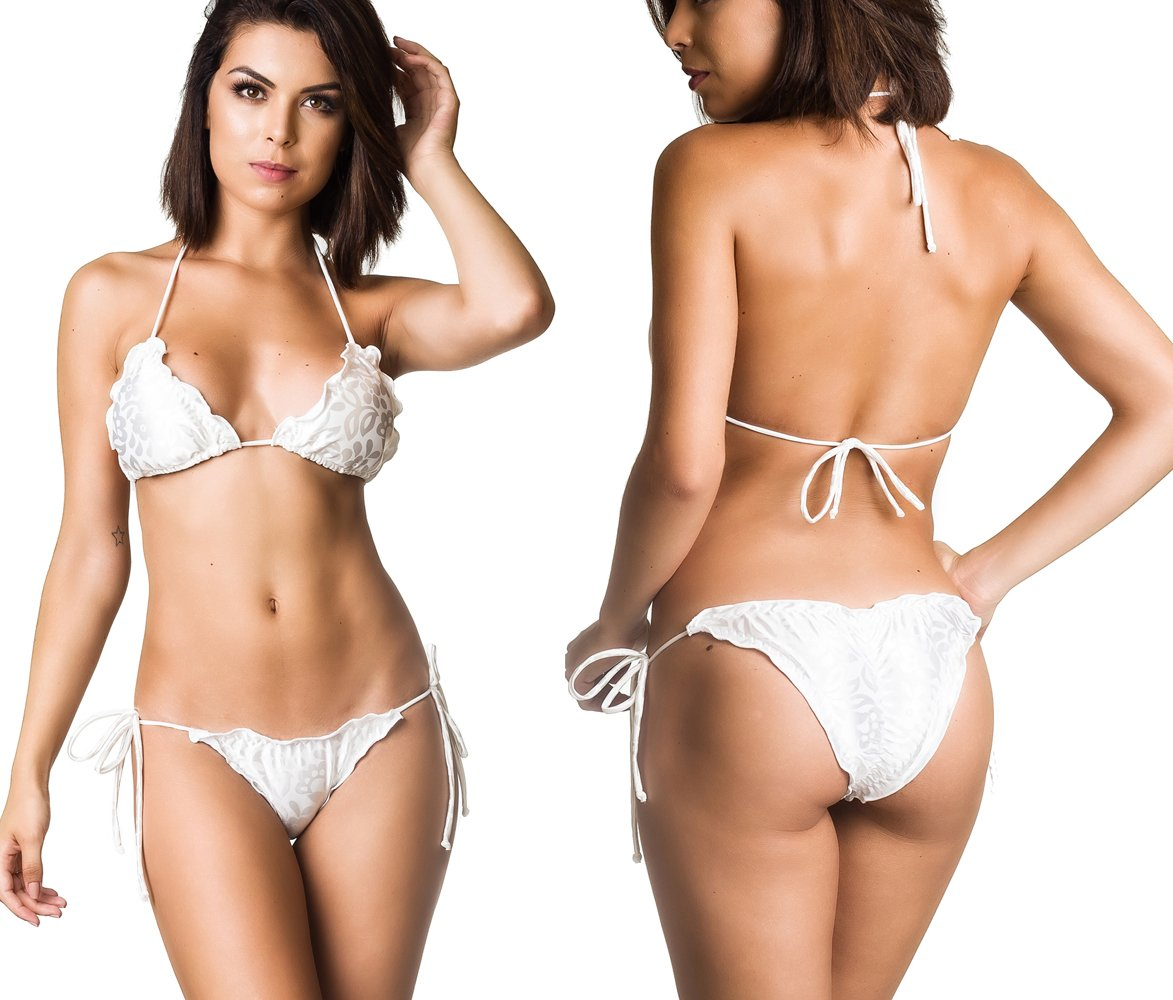 COQUETA Swimwear Ruffle Women Brazilian Bikini Scrunch Set Wavy Sexy Teeny Swimsuit