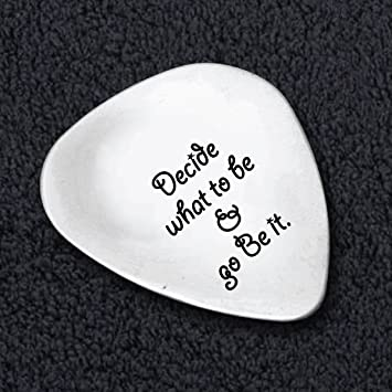 Decidir qué ser e ir sea de púa de guitarra – empresario cita – Steve Job