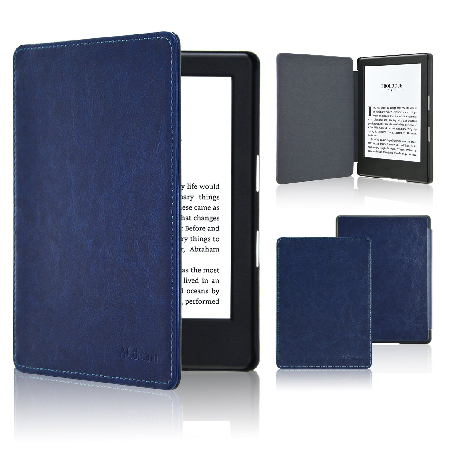 ACdream Case for All-New Kindle E-reader (8th Generation 2016), The Thinnest and Lightest Cover for All-New Kindle (6'' Display, 8th Gen 2016 Release), Dark Blue