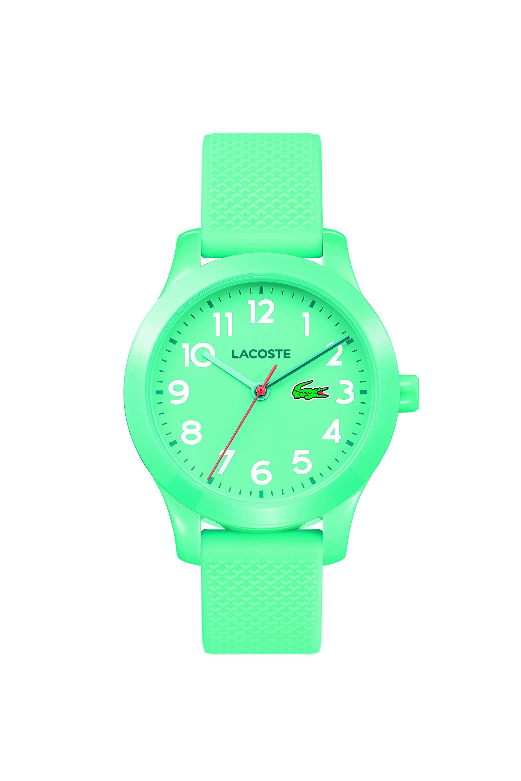 Lacoste Kids' TR90 Quartz Watch with Rubber Strap, Blue, 14 (Model: 2030005) by Lacoste