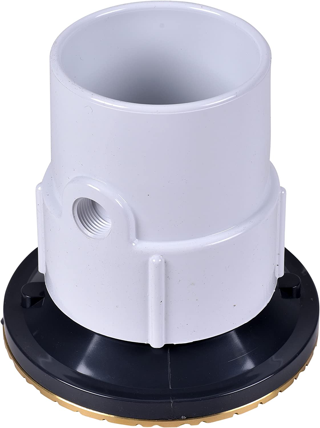 Oatey 84212 ABS Adjustable Commercial Cleanout with 6-Inch Cast BR Cover and Round Top 2-Inch