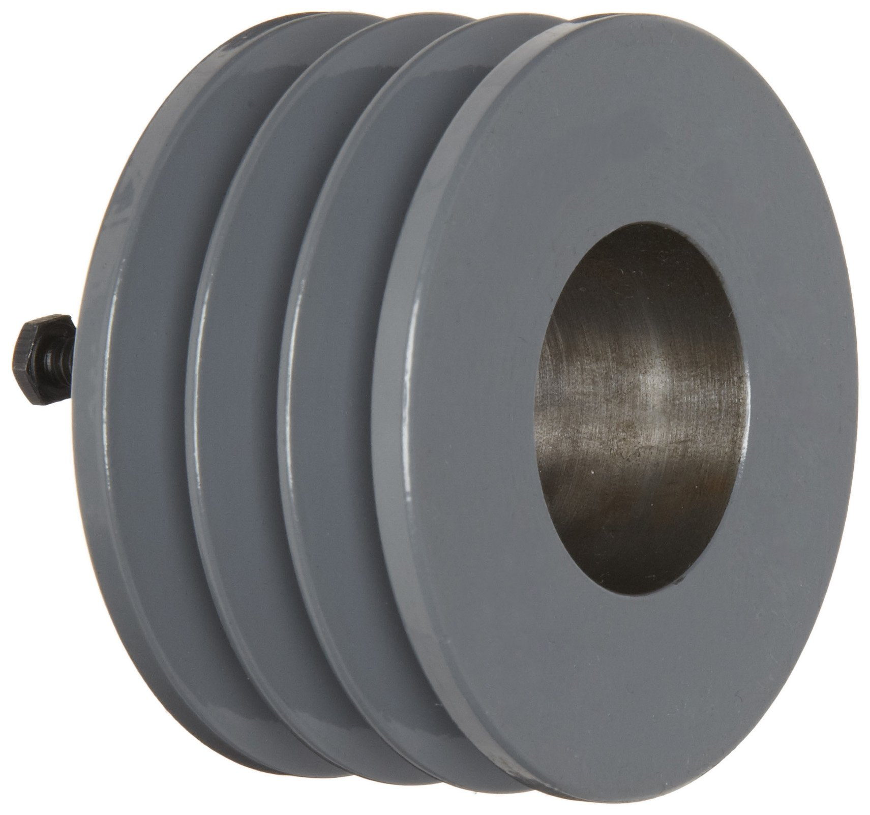 TB Woods 3V4123 Narrow V-Belt Sheave, 3V Belt Section, 3 Grooves, SH Bushing required, Cast Iron, 4.12'' OD