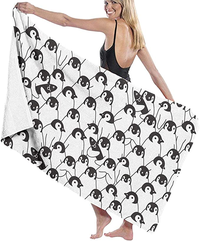 Penguin Bird Microfiber Beach Towels