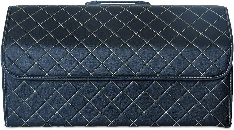 Ergocar Kofferraum Organizer Luxus Pu Leder Aufbewahrungstasche Organizer Wasserdicht Faltbar Kofferraum Tasche Für Auto Lkw Suv Schwarz L Auto