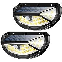Cocoda 100 LED Luz Solar Exterior, [1000LM] Focos Solares con Sensor de Movimiento, 270 Ángulos Luces Solares Seguridad con 3 Modos Iluminación, Luz Solar IP65 Impermeable para Garaje, Patio (2 Pack)