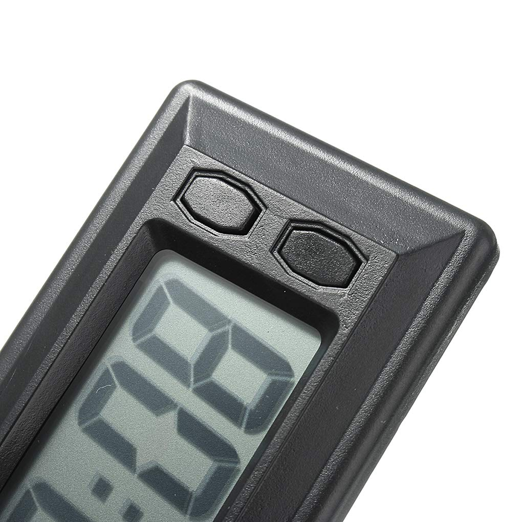 IMHERE W U Ultra-thin LCD Digital Display Vehicle Car Dashboard Time Calendar Display Adhesive Pad Clock