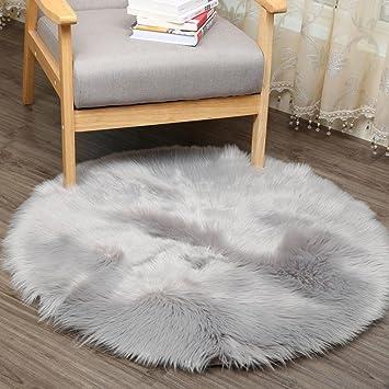 Huihui Teppich Tund 30 X 30 Cm Kunstlicher Schaffell Teppich Anti