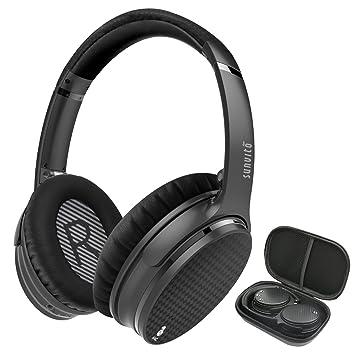 Sunvito Auriculares Inalámbricos Bluetooth Over-ear Cancelación de Ruido Activa, Estéreo Inalámbrico Auriculares con Micrófono de Alta Fidelidad Incorporado ...