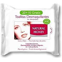 Natural Honey 7005328000 - Toallitas desmaquillantes, 20+10 toallitas