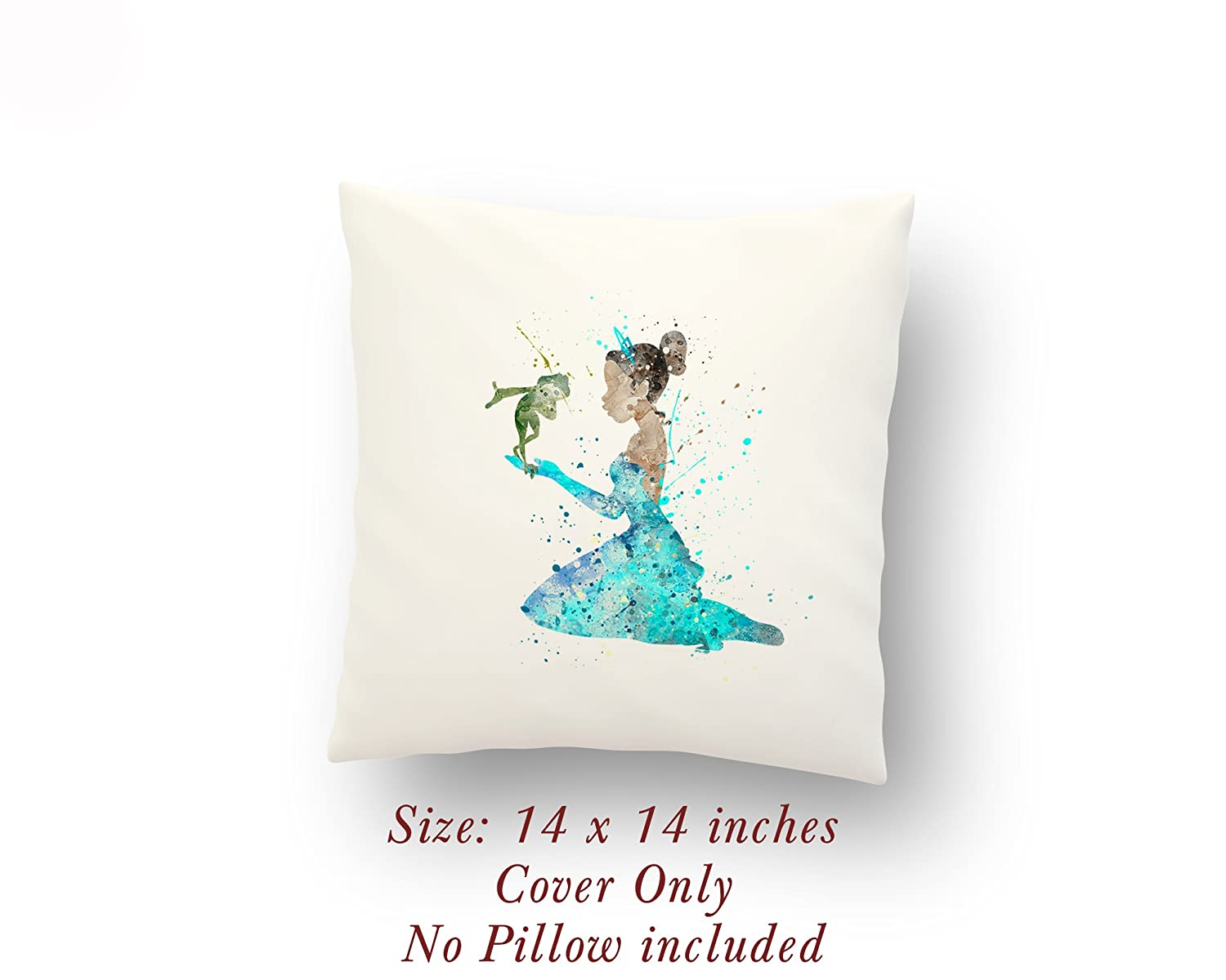 Princess Tiana The Princess and the Frog 14 x 14 inches Pillow Cover