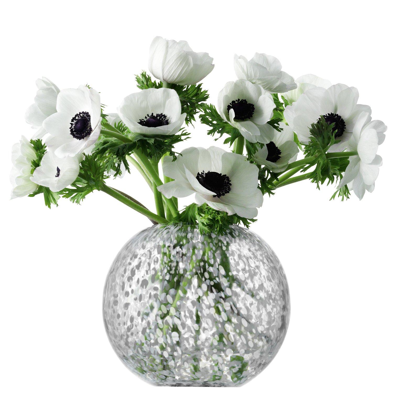 LSA International Tweed Vase, H6'', Grey by LSA International