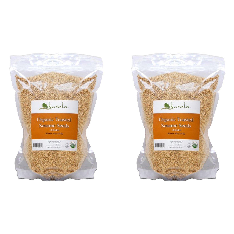 Kevala - Organic Toasted Sesame Seeds( 1 Pounds) (2-Pack)