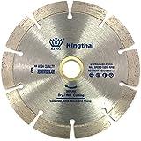 Kingthai ダイヤモンドカッター セグメント 125mm 乾式 コンクリート ダイヤモンドブレード レンガ ブロック 切断用 刃 ダイヤモンド カッター 替刃 替え刃 石材用 ダイヤモンドホイール