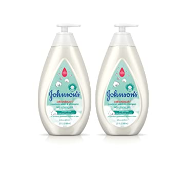 Johnsons CottonTouch Newborn Baby Wash & Shampoo, Made with Real Cotton, Twin Pack, 2X 27.1 fl. oz
