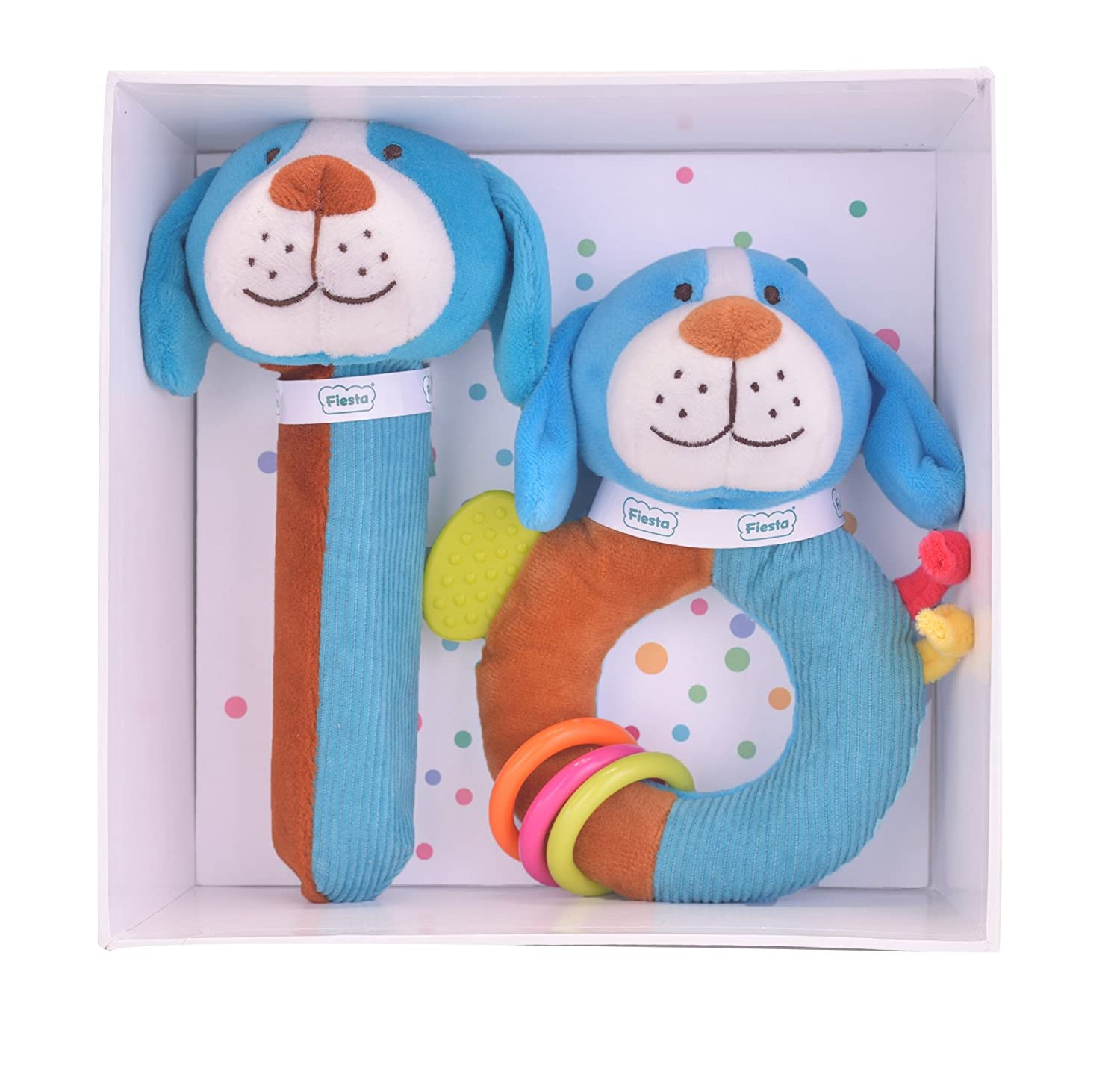 【クーポン対象外】 Dog Baby Gift Baby Set - - Squeakaboo And Ringaling Toys Dog B01IN4WBBA, 岐阜県:f391c41f --- clubavenue.eu