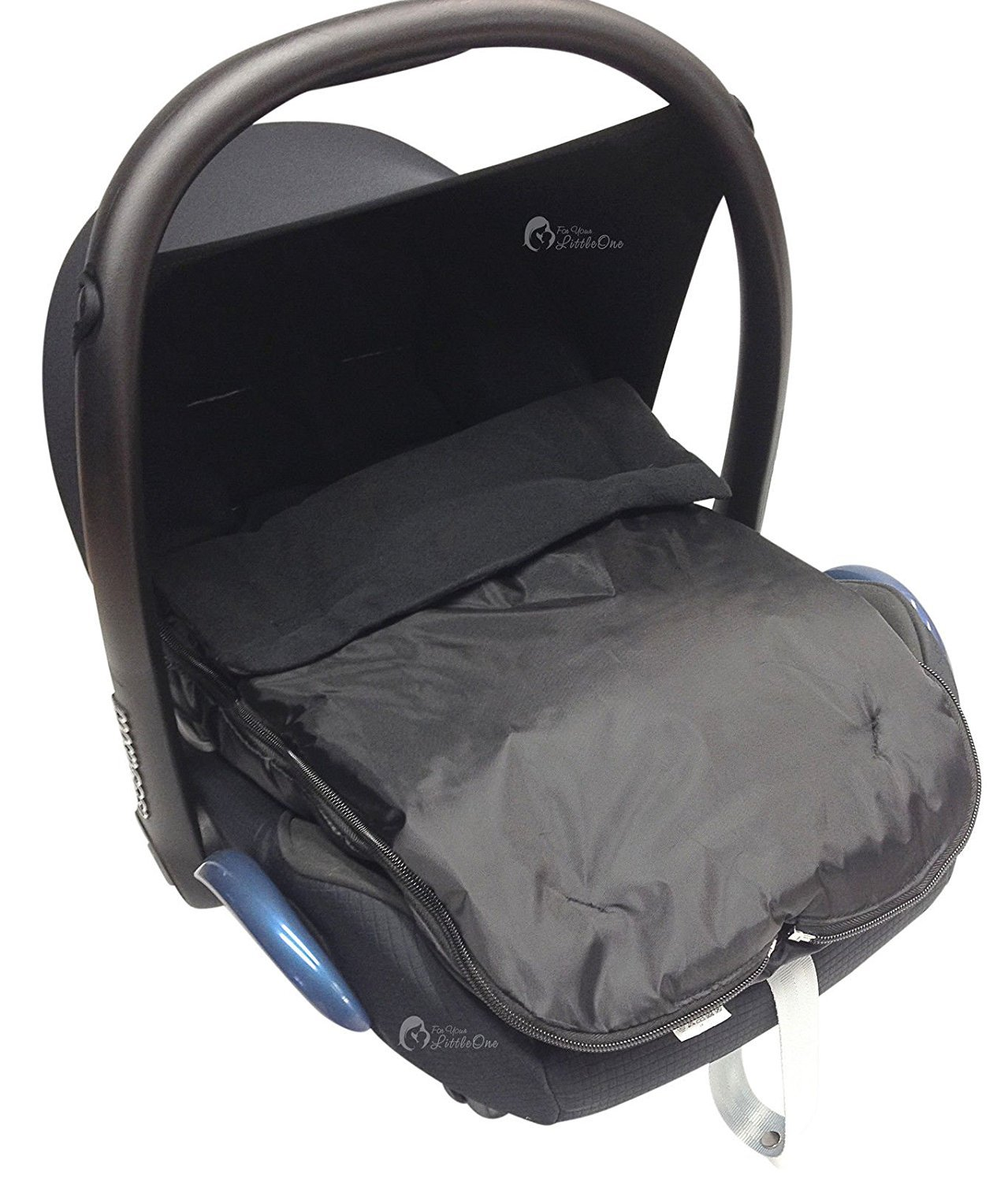 Car Seat Footmuff/Cosy Toes Compatible with Maxi COSI Pebble Cabrio Black For-Your-Little-One
