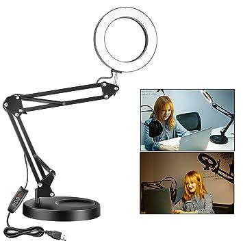 Neewer 6-Zoll-LED Schreibtisch Ring Licht, Augen-Pflege: Amazon.de ...