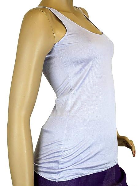 3811618cc2e08b Amazon.com  Gucci Women s Lilac Rayon Logo Tank Top 259408  Clothing