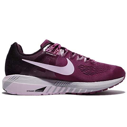 02fe8ff8405ee Nike Women s Air Zoom Structure 21 Running Shoe Tea Berry Iced Lilac-Port  Wine 10.0  Amazon.in  Shoes   Handbags