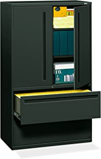 "product image for HON 2-Drawer with 3 Shelves Office Filing Cabinet - Brigade 700 Series Lateral File Cabinet, 19.25""D, Charcoal (H795)"
