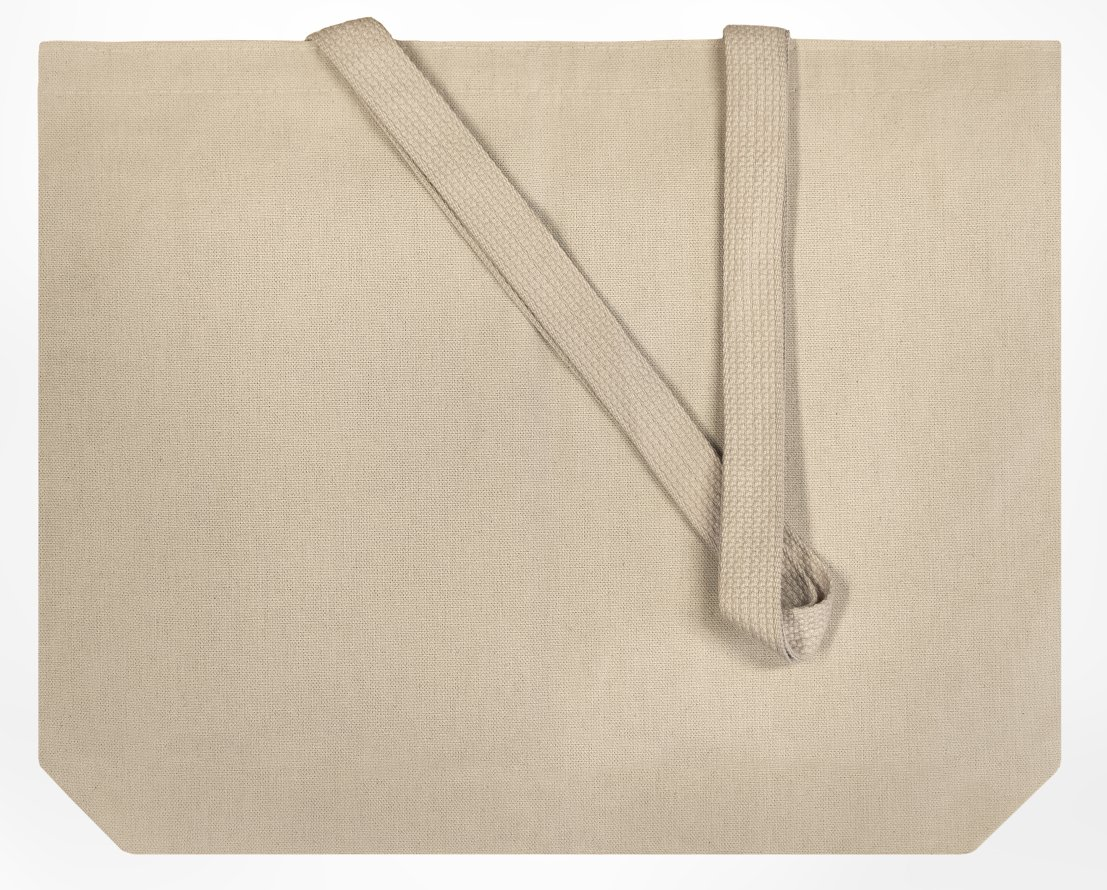 Set of 25 10oz Cotton Canvas Shoulder Tote Bags - Reusable Made in USA (Natural) by Enviro-Tote (Image #2)
