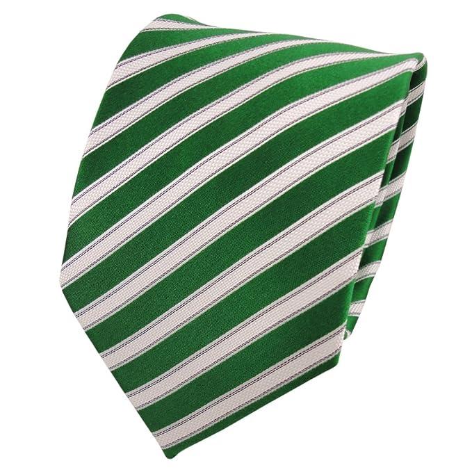 Diseñador corbata de seda - verde verde esmeralda blanco negro ...