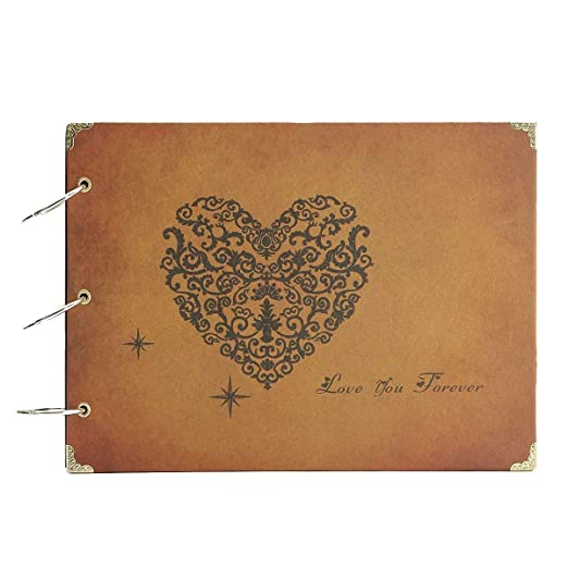 ThxMadam Album de Fotos,DIY Álbum de Fotos Libros de Firmas para Boda Scrapbooking Album Cuaderno Diario de Viaje Vintage Regalo Original para ...