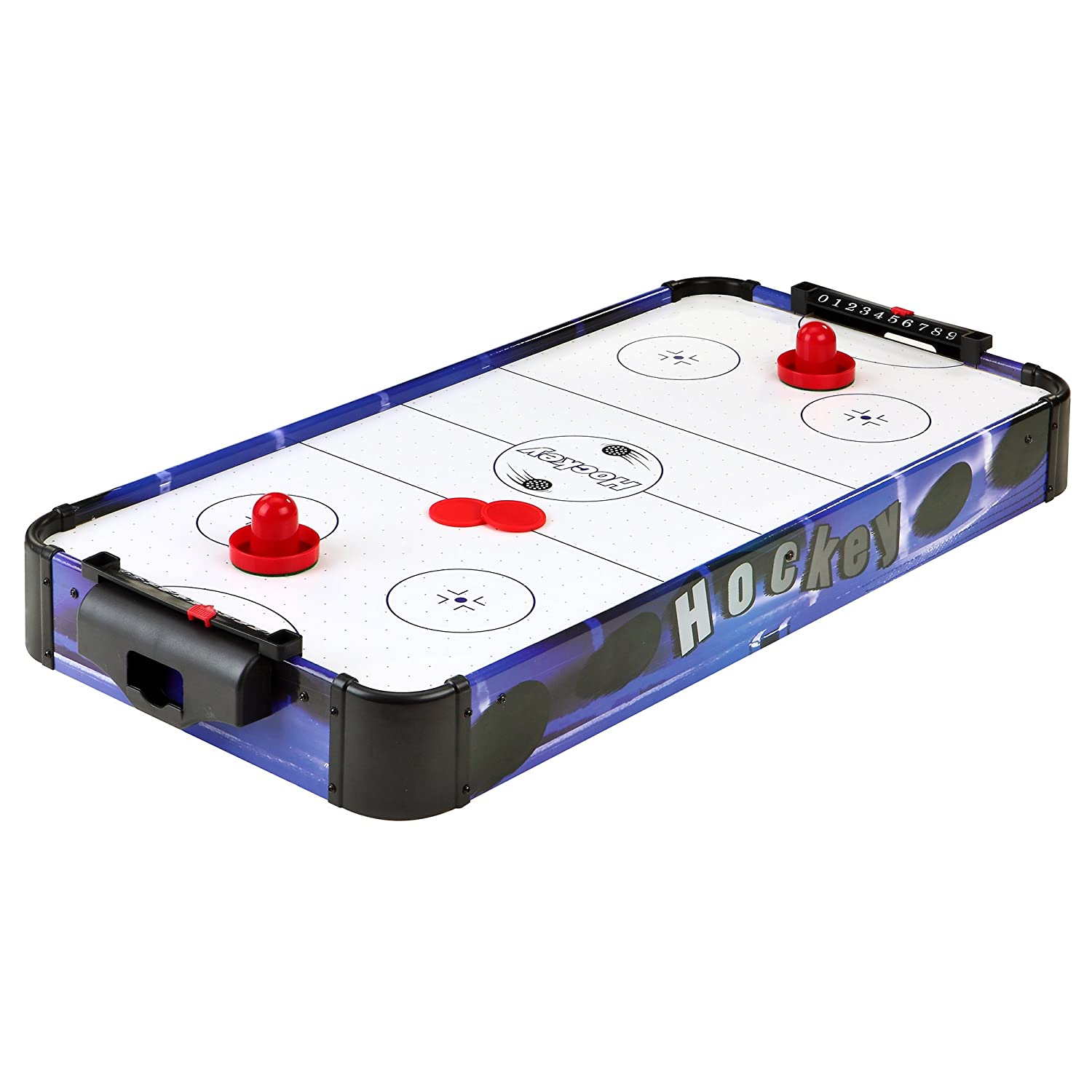 Blue Line 32-in Portable Table Top Air Hockey for Kids, Blue/White Hathaway BG1013T3