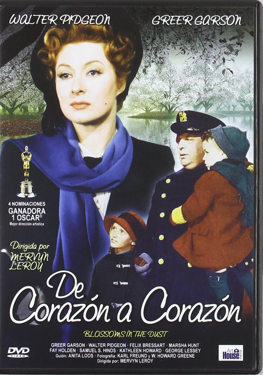 Blossoms in the dust Greer Garson vintage movie poster