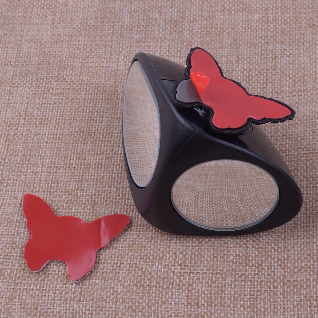 CITALL Pair of Car Blind Spot Mirror Verstellbarer Weitwinkel 360 Rotation Konvexe R/ückansicht f/ür sicheres Parken
