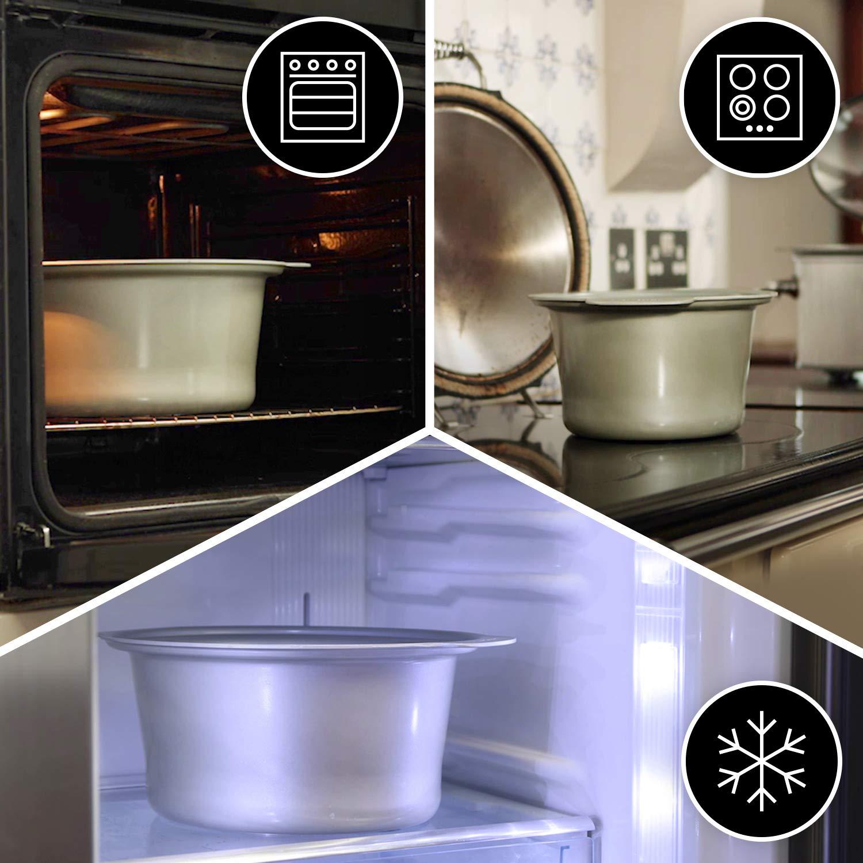 Crock-Pot DuraCeramic CSC038X Olla de Cocción Lenta Manual, 4.5 ...