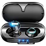 【2019進化版 Bluetooth5.0 3500mAh】 Bluetooth イヤホン 140時間連続駆動 完全ワイヤレス イヤホン 防水 Hi-Fi高音質 自動ペアリング 自動ON/OFF 3Dステレオサウンド ブルートゥース イヤホン AAC対応 両耳 左右分離型 Siri対応 タッチ式 マイク内蔵 技適認証済 iPhone/ipad/Android対応 (ブラック)