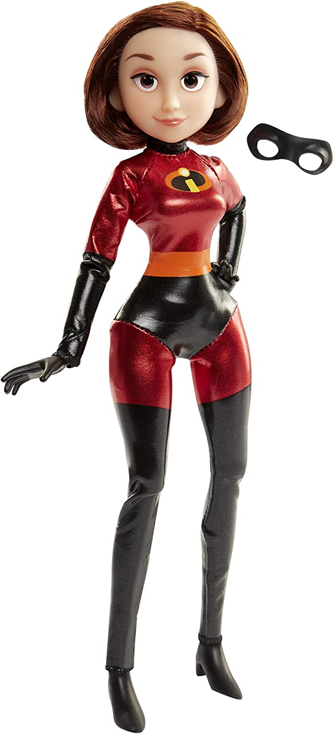 Amazon Com The Incredibles 2 Elastigirl Action Figure 11 Articulated Doll In Deluxe Costume And Mask Toys Games