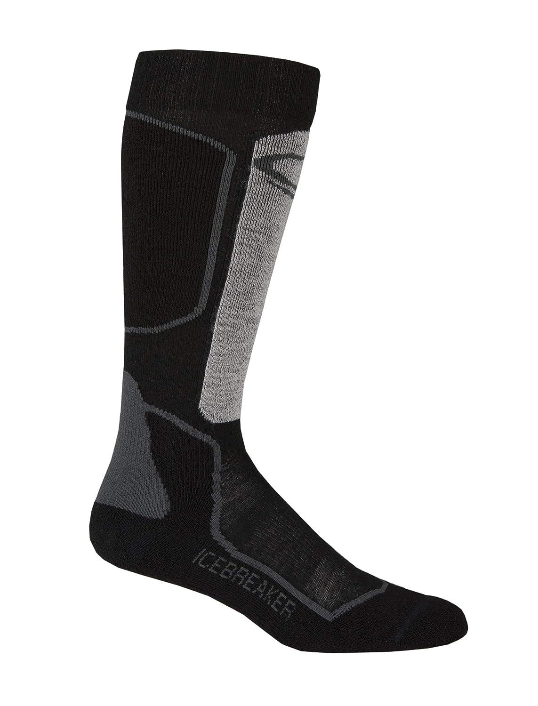 7258d8d93fd Icebreaker Men's Ski Plus Light OTC Socks - Black/Twister Heather/Rocket:  Amazon.co.uk: Sports & Outdoors