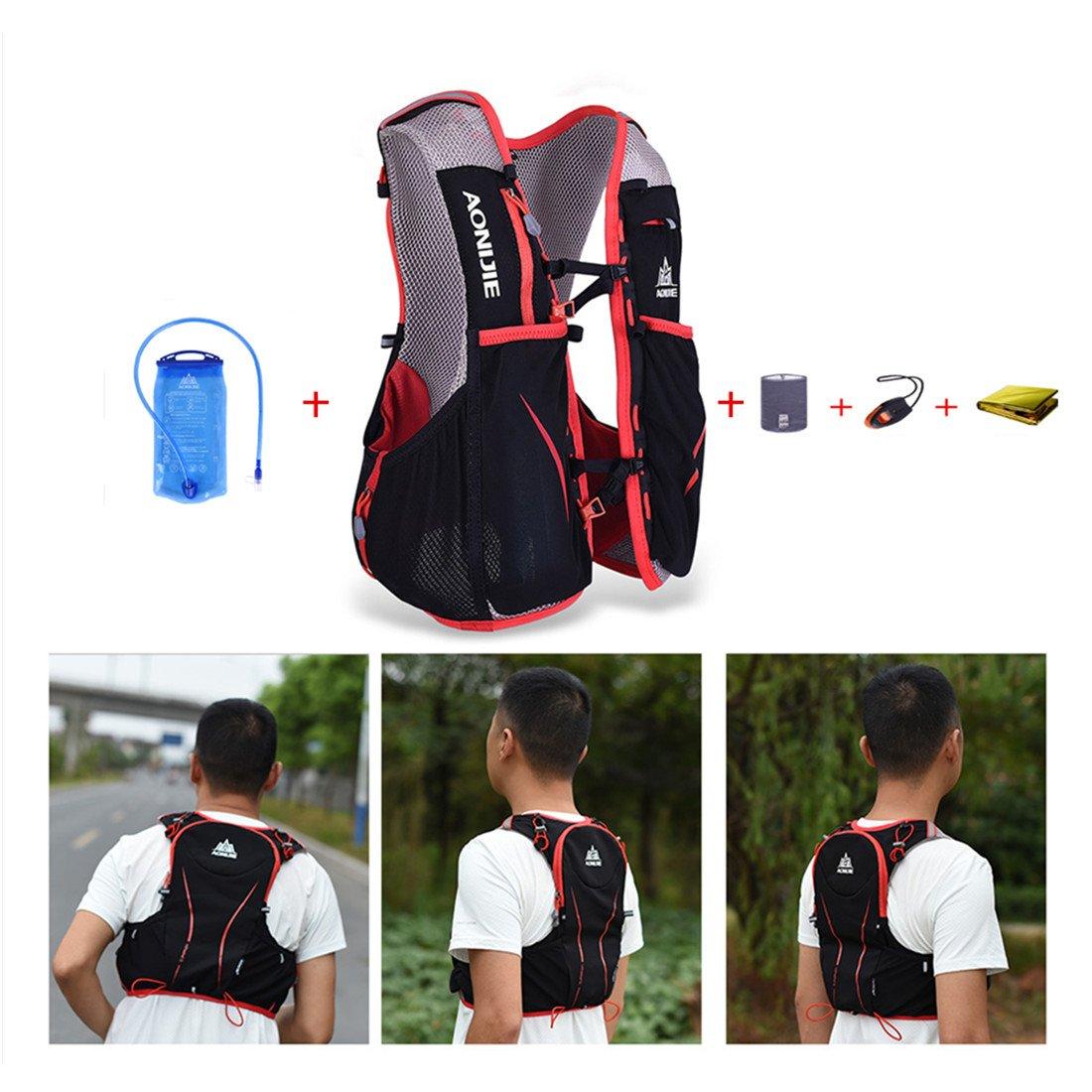 AONIJIE L bolsas de mochila de nailon impermeable para maratón ciclismo running